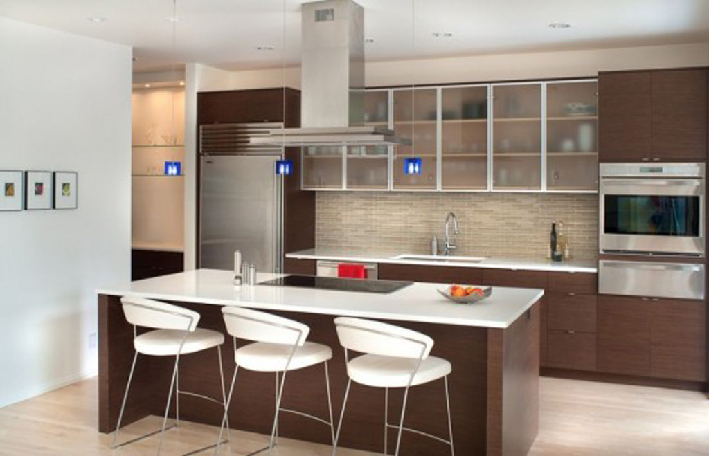Minimalist kitchen design for Kichan dizain