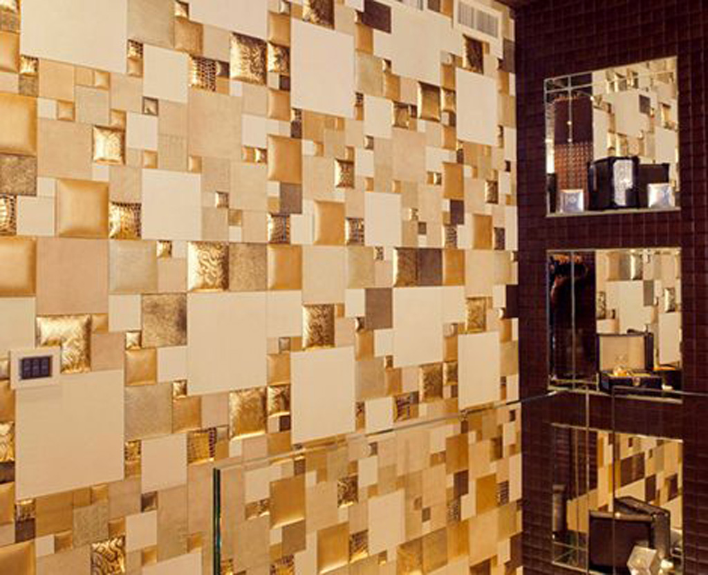 Decorative Wall Panels Plans One of 4 total Snapshots Gold Leather