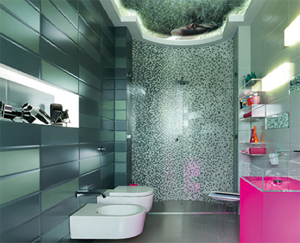 Glass Bathroom Wall Tile Decor