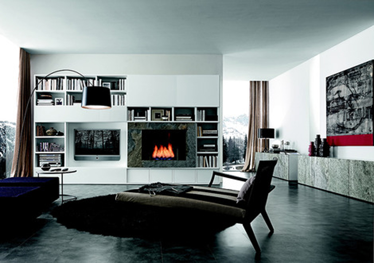 Modern living room storage designs for Contemporary living room designs