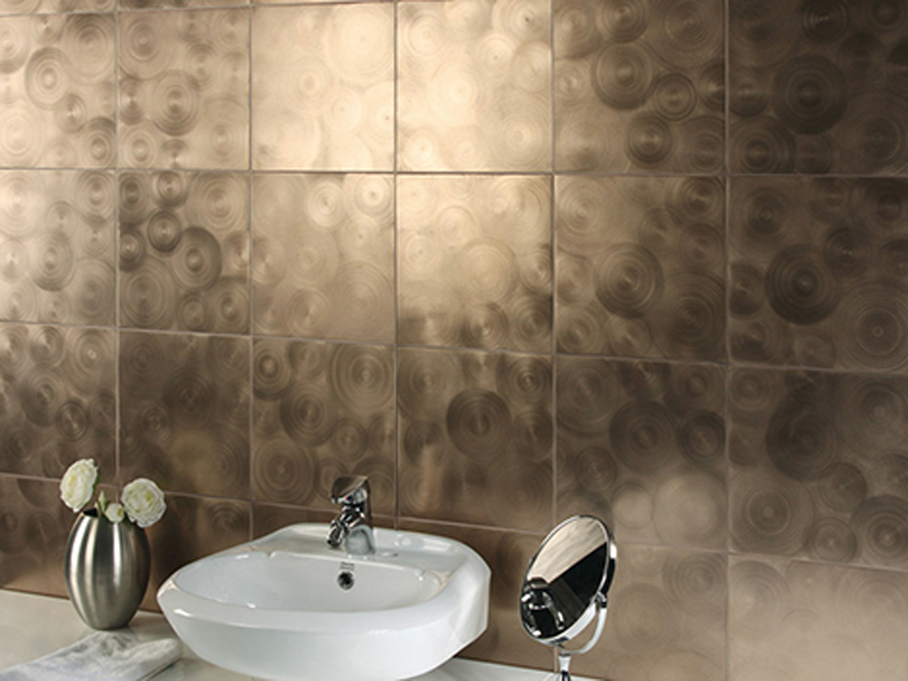 Innovative  Tiles Fashions Latest Orange Wall Tiles Designs For Modern Bathroom