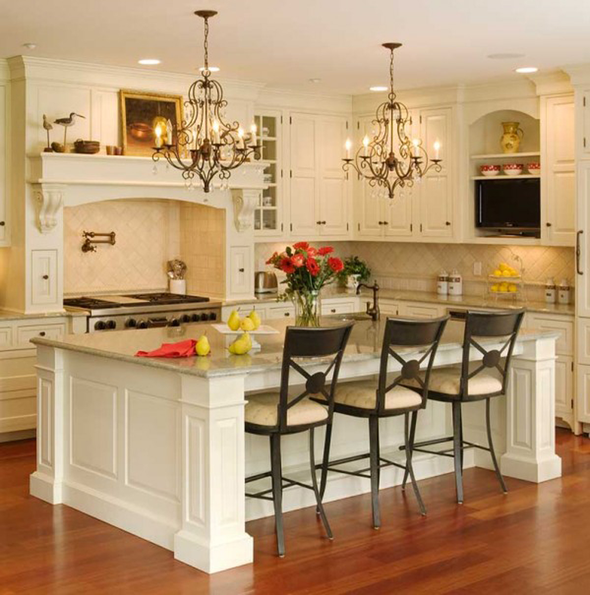kitchen design ideas with white island and best house