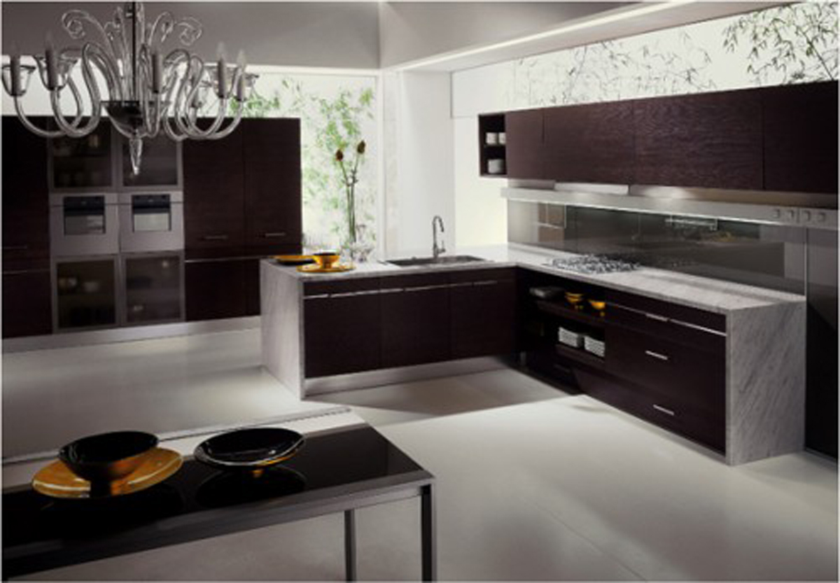 Latest kitchen designs kitchen design i shape india for for Kitchen designs pictures